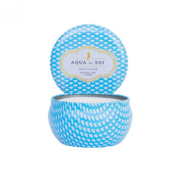 Candle Tin Single Wick<br>Sea Glass