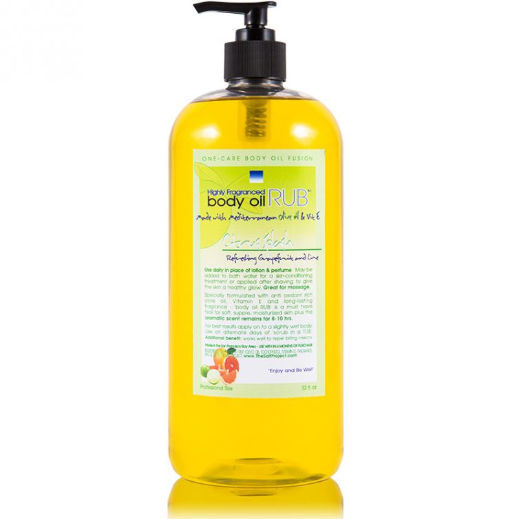 body oil RUB 32oz<br>Citrus Splash