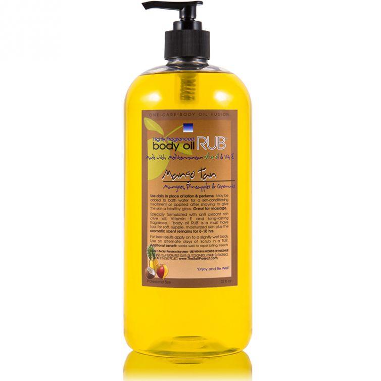 body oil RUB 32oz<br>Mango Tan