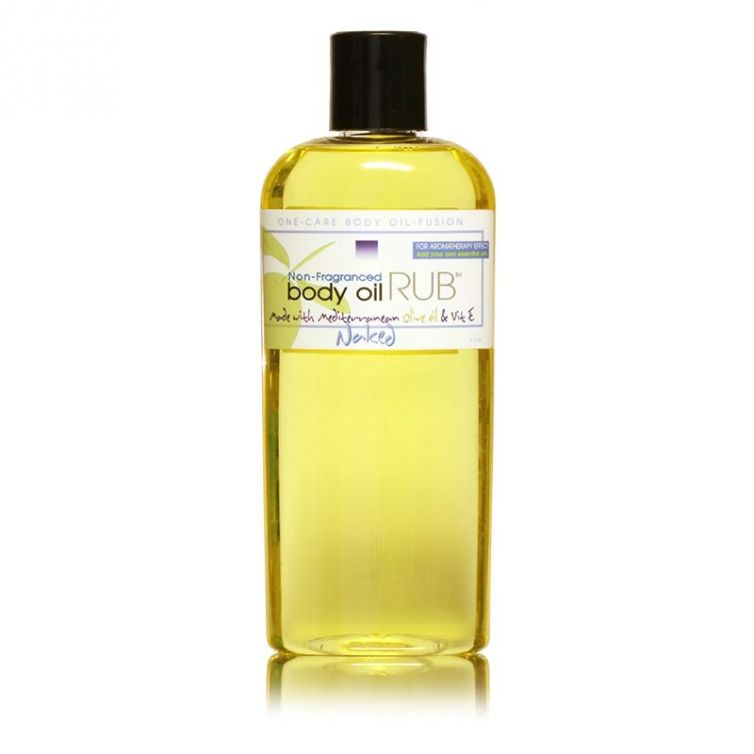 body oil RUB 8oz<br>Naked (Unscented)