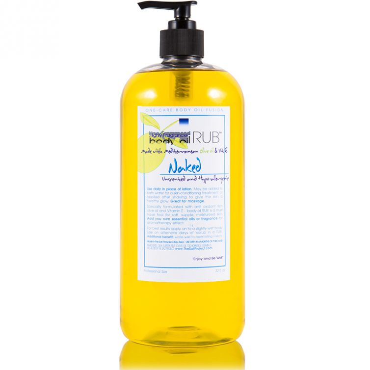 body oil RUB 32oz<br>Naked (Unscented)