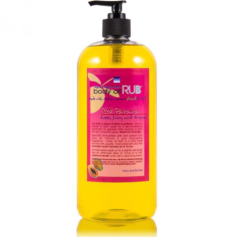 body oil RUB 32oz<br>Red Papaya