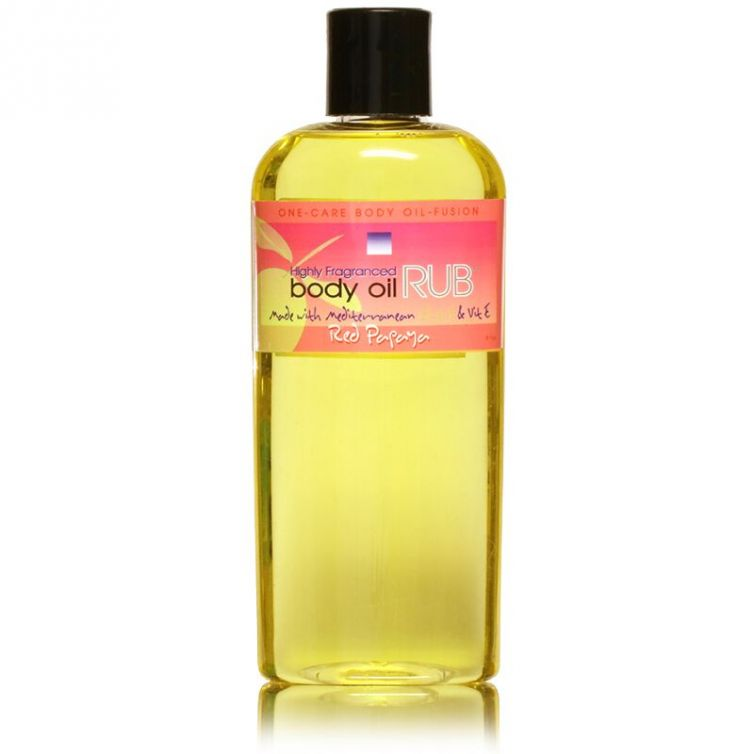 body oil RUB 8oz<br>Red Papaya