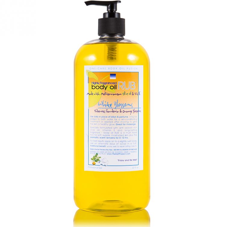 body oil RUB 32oz<br>White Blossom