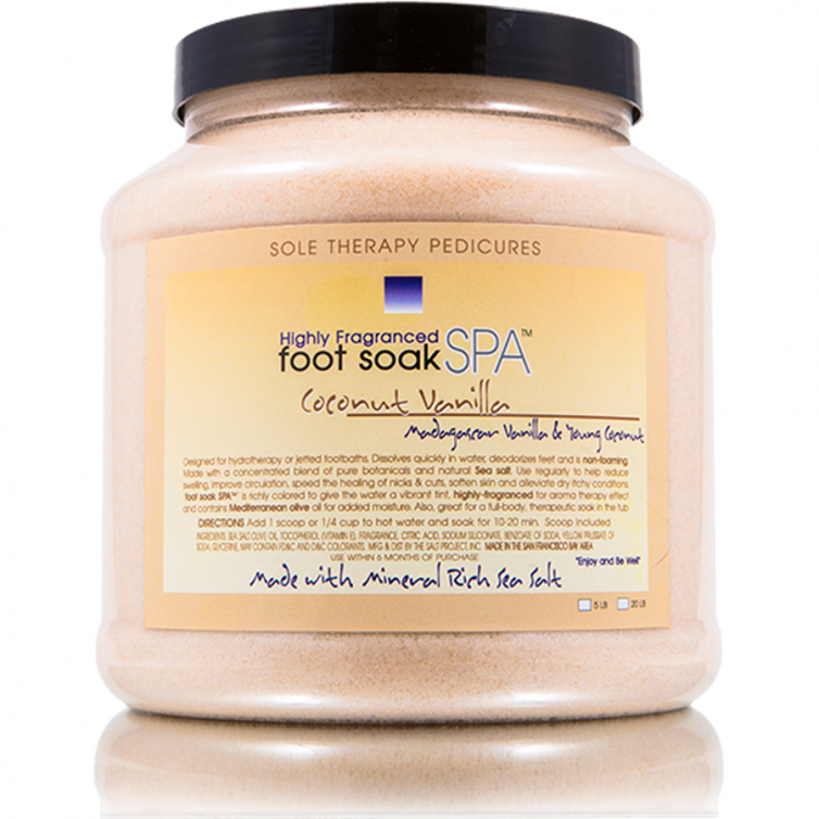 foot soak SPA 5LB<br>Coconut Vanilla